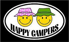 HAPPY CAMPERS Motorhome trailer vinyl decal sticker
