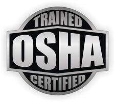 Osha Trained & Certified Hard Hat Decal / Helmet Sticker Safety Label Laborer
