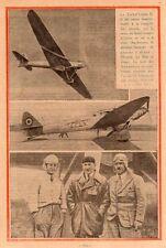 AVION TRAIT D UNION II AVIATEUR MESMIN LE BRIX DORET PLANE IMAGE 1926 OLD PRINT