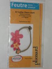 fiche technique fabriquer collier fleurs laine feutrée