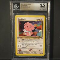 Pokemon 2000 Neo Genesis 1st Edition Snubbull BGS 9.5 Gem Mint