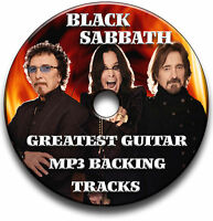 45 x BLACK SABBATH STYLE MP3 ROCK GUITAR BACKING JAM TRACKS CD