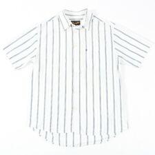 VGC Vintage WRANGLER White Striped Shirt | Mens L | Cowboy Western Retro Stripe