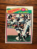 1977 Topps #515 Bob Griese Football Card Miami Dolphins HOF NFL Raw