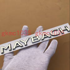 2018 Flat MAYBACH Chrome Letters Trunk Emblem Badge Sticker for Mercedes Benz
