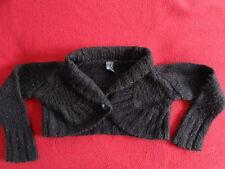 Gilet court laine marron manches longues ZARA KIDS  Taille 3 - 4 ans / 104 cm