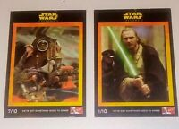 Stars Wars Episode 1 Collector Cards 1999 KFC
