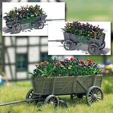 OO/HO jardin paysage - en bois Chariot avec fleurs (décor ) - Busch 1228 P3