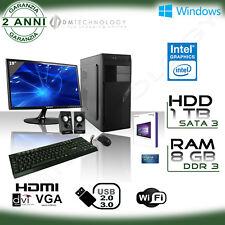Pc Desktop Intel Licenza Windows 10/office/wifi/hd 1tb/ram 8gb/monitor 19""