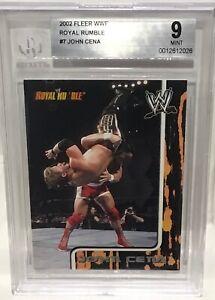 2002 Fleer Royal Rumble JOHN CENA Rookie Card  #7 BGS 9 Mint Condition WWE
