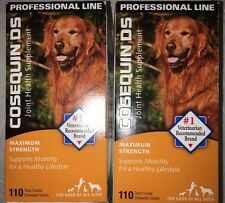 (2) Nutramax Cosequin DS Dogs All Sizes 110 Chewable Tablets Total Of 220 2020