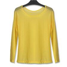 Sexy Sheer T-shirt Lady See Through Mesh Basic Shirt Blouse Top Clubwear Fashion