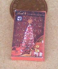 1:12 Scale Empty Christmas Advent Calendar Dolls House Xmas Display Accessory G
