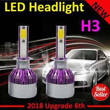 2x H3 LED Car Headlights 600W 60000LM Conversion Globes Bulbs Beam Kit 6000K AU