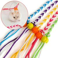 Hamster Leash Lead Adjustable Pet Rat Mouse Guinea Pig Squirrel Rope 1.4m