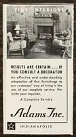 1939 Adams Inc Fine Interiors Indianapolis Print Ad Results Are Certain