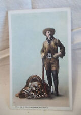 Rare Postcard Buffalo Bill Col Wm F Cody The Great Scout with Saddle Gun 1895