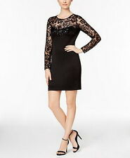 Guess Illusion Lace Sequined Sheath Dress Size 10 #D135 MSRP $128.00