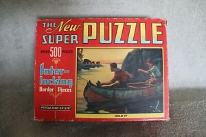 """Vintage 1940's SUPER Puzzle """"Hold It"""" Over 500 Pieces! Rare"""