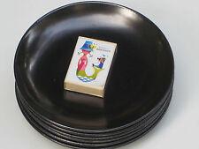 SET: 6 (!) Teller HEDWIG BOLLHAGEN Schwarz Form 1065 HB KERAMIK Dessertteller
