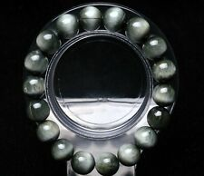 11mm AAA Genuine Natural Green Seraphinite Crystal Round Beads Bracelet