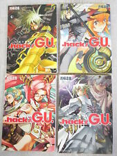 .Hack / G.U. Novel Complete Set 1-4 Yatsuya Hamazaki Japan Book Kd*