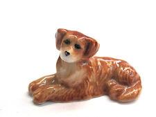 Handpainted Miniatures Collectible Ceramic Golden Retriever Dog Breed FIGURINE