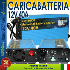 EurTeck Battery Charger Caricabatteria 12V 40A Auto moto nautica camper#21020868
