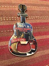 RARE NEW Hard Rock Cafe HONG KONG THE PEAK Guitar Magnet Bottle Opener VHTF
