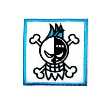 ONE PIECE Franky Robot Pirates Skull Flag Symbol Anime Comic Shirt Iron on Patch