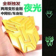 Car Metal Luminous Light Grille Badge Emblem Transformers Autobot Gold