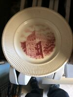 "Very Rare Wedgewood The Red Roof Trinity College 11"" Washington DC Plate Prestin"