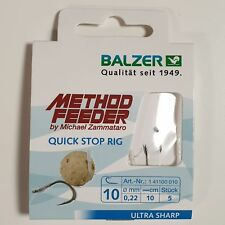 Balzer Method Feeder Vorfach Quick Stop Rig Gr. 10 für Zammataro Pellets Boilies