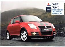 Suzuki Swift Sport Accessoires 2011 UK Market sales brochure
