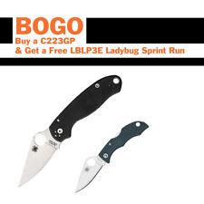 BOGO Spyderco Paramilitary 3 Pocket Knife S30V Blade C223GP & Ladybug LBLP3E