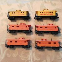 ho union pacific cabooses, in nice condition