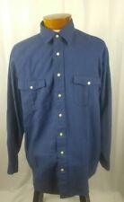 CREMIEUX Classics Short Sleeve Button Front 100/% Cotton Lightweight Woven Shirt