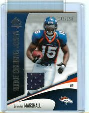 2006 SP Authentic Brandon Marshall Rookie Exclusive Jersey card Denver Broncos