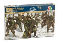 Italeri   1:72 - 6133, WWII U.S. Infanterie Winteruniform, 48 Figuren, Modellbau