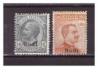 s13883) RODI 1916/22 MNH** Nuovi** Definitive Sass.11/12 - 1v. TONED