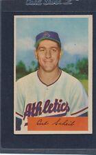 1954 Bowman #067 Carl Scheib A's EX 54B67-11516-1
