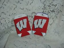 University Of Wisconsin Badgers Red White Two Can Cooler Package New Two Sided
