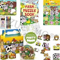 Boys Girls Filled Party Boxes Themed Kids Farm Animals Party Supplies Ready Made