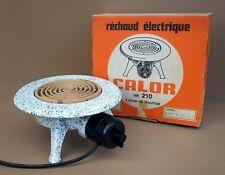 Ancien RÉCHAUD électrique CALOR émaillé déco vintage camping old enamelled stove