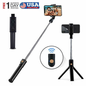 Bluetooth Extendable Selfie Stick Monopod Tripod Stand for iPhone Samsung S8 LG