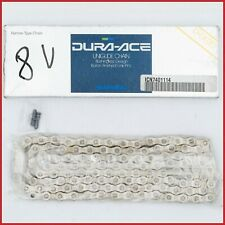 NOS SHIMANO CN-7401 CHAIN 8s SPEED DURA-ACE UNIGLIDE 114L VINTAGE 90S 7400