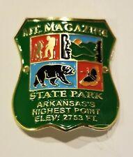 MOUNT MAGAZINE ARKANSAS HIKING STICK MEDALLION - MADE IN THE USA!
