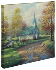 Thomas Kinkade Aspen Chapel 20 x 20 Gallery Wrapped Canvas