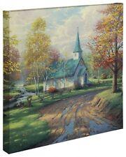 "Thomas Kinkade Wrap - Aspen Chapel – 20"" x 20"" Wrapped Canvas"