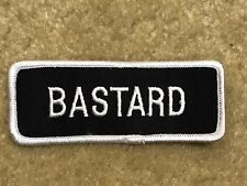 BASTARD MOTORCYCLE PATCH---002